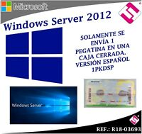 MICROSOFT LICENCIA ORIGINAL WINDOWS SERVER CAL 2012 R18 03693 (SE ENVIA PEGATINA