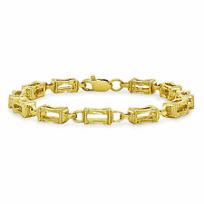 18K GOLD FILLED ELEGANTE ITALIANO LISCIA DIAMOND CUT 18ct GF GABBIA BRACCIALE 18 CM