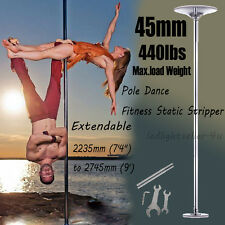 45mm Fitness Exercise Spinning Static Dance Pole Stripper Strip Portable 440lbs