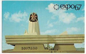 Canada; Expo '67 Official PPC, British Pavilion PPC By Plastichrome, Unused