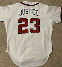 1989 ROOKIE DAVE JUSTICE BASEBALL JERSEY AUTHENTIC ATLANTA BRAVES RAWLINGS