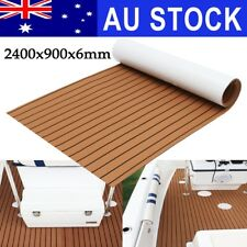 AU 240x90cm Marine Flooring Teak EVA Foam Boat Decking Sheet Self-Adhesive Brown