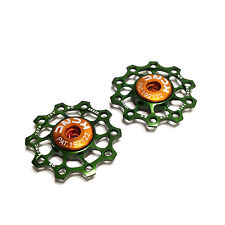 gobike88 KCNC Ultra Light Jockey wheel / Pulley, AL7075 10T green 2pcs/set, 691