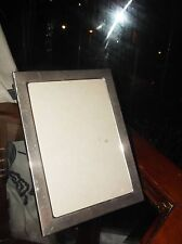 "SILVER PLATED PHOTO FRAME WITH GLASS & EASEL STAND BACK  7.5"" X 5.5"""