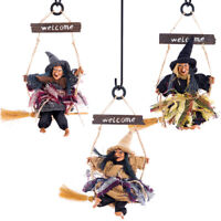 KQ_ Halloween Witch Doll Ornament Home Door Wall Hanging Decor Festival Gift Eye