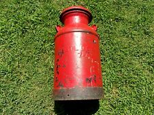 vtg antique Solar 10 gal. Milk Can Rust Patina Farm steel dairy bucket st. Louis