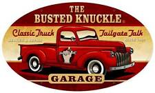 Busted Knuckle Garage Hot Rod Truck Retro Metal Sign Man Cave Shop Club Bust064