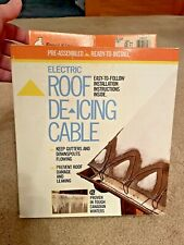 FROST KING RC60 ELECTRIC ROOF GUTTER DE-ICING CABLE 60 Ft. 120V Heat Ice Removal