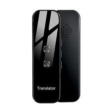 Portable Smart Instant Real Time Voice Translator 72 Languages Black