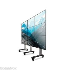 3 x 3 LCD LED Mobile Video Wall Trolley- Free Standing Exhibition Use BT8371-3x3