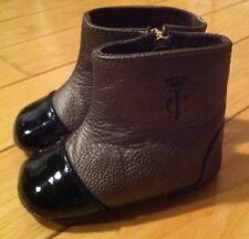 JUICY COUTURE Infant Baby Girls Adorable Booties Boots Size 2 *EUC* Bronze Black