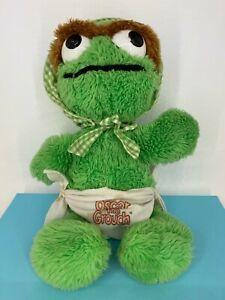 Vintage Hasbro Softies - 1980s - Sesame Street - Baby Oscar the Grouch