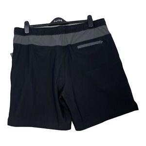 Men's Speedo Tech Volley Swim Shorts Trunks w/ Comfort Liner UPF 50 Black XXL