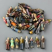 100pcs O Scale 1:50 Model People Figures Passenegers Train Scenery Mixed Color