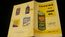 St Lawrence pure corn oil pamphlet style recipe cook book Starch Co. Port Credit