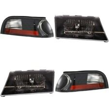 MERCURY GRAND MARQUIS 2003 2004 2005 BLACK HEADLIGHTS HEAD CORNER LIGHTS LAMPS