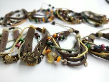 Wholesale lots 8 pcs Mix Style Genuine Handmade Leather Cuff  Bracelet Wristband