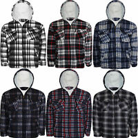 BRAND NEW MENS WINTER FLEECE CHECK SHIRT WARM WORK CASUAL JACKET SIZE