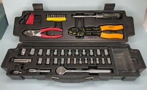 Stanley 48-Piece 6Pt Socket and Tool Set With Carrying Case Organizer CR-V