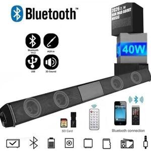 Bluetooth Wireless Home TV Soundbar Sound Lautsprecher Subwoofer 40W für TV PC