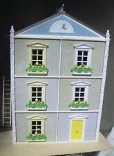 3 story Seven Towns Doll House + assorted furniture, Lights. & Dollhouse Family