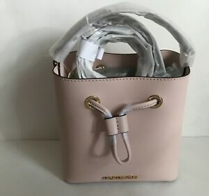 NWT!!Michael Kors Suri Small Leather Bucket  Crossbody Bag In Power Blush