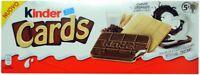FERRERO KINDER CARDS - 128G - 5x2 = 10 PIECES - CRUNCHY BISCUIT CHOCOLATE FILLIN