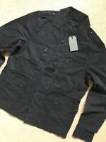 "ALL SAINTS INK NAVY BLUE ""TAYLOR"" MILITARY UTILITY JACKET COAT - S M L  NEW TAGS"