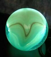 "NM* ""EXCELLENT V"" WEDDING CAKE Aqua BLUE Conqueror Vitro  Vintage Marbles .62"""