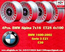 4 Cerchi BMW E30 E21 Alpine 7x16 ET28 4x100 Wheels Felgen Llantas Jantes TÜV