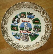 Rare!  Vintage 1960-70S YELLOWSTONE NATIONAL PARK Souvenir Plate Now On Sale!