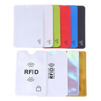 10PCS Credit Card Protector Secure Sleeve RFID Blocking ID Holder Foil Shield XE
