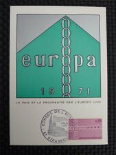 FRANCE MK 1971 EUROPA CEPT MAXIMUMKARTE CARTE MAXIMUM CARD MC CM c730