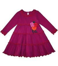 New Girls Mulberribush Boutique Love U Lots sz 4T Pink Flower Dress Clothes Fall