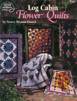 LOG CABIN FLOWER QUILTS Quilting Patterns Paperback Crafts Book in English ~ NEW