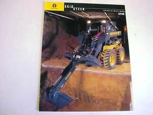 New Holland LS140 Skid Steer Loader Color Sales Brochure 1999