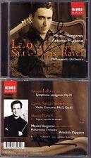 Maxim VENGEROV & PAPPANO Signiert LALO RAVEL SAINT-SAENS CD Symphonie espagnole
