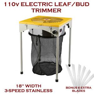"Hydroponic Bud Trimmer 18"" 110v Electric 3-Speed Leaf/Bud Trimmer 6 Extra Blades"