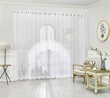 DecoSource - Grommet Semi-Sheer Extra Wide - 2 Wall-to-Wall Curtain Panels - Tot