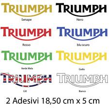 2 Adesivi per serbatoio carenatura per Triumph Stickers
