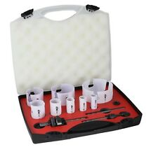 HSS TCT Holesaw Kit 12pc Electricians Kit hole saw Ceramic/Cement/Plaster board