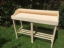 large wooden potting table. solid,bespoke for garden - greenhouse - potting shed