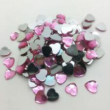 6mm8mm10mm DIY Heart-Shaped Resin Rhinestone Gems Flat Back Crystal Beads