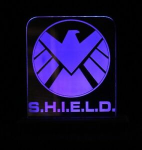 marvles S.H.I.E.L.D blue led lights / night light