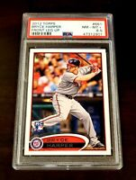 2012 Topps #661 Bryce Harper Front Leg Up Phillies RC PSA NM MINT + 🔥 MUST 👀