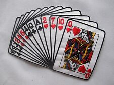 """#3487 6-1/2"""" Straight Hand Playing Card Retro Poker Embroidery Applique Patch"""