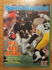 WALTER PAYTON Sports Illustrated 12/8/86 Magazine No Label CHICAGO BEARS