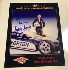 BOBBY UNSER Indy Racing Driver Autograph 8x10 Photo Ad Authentic