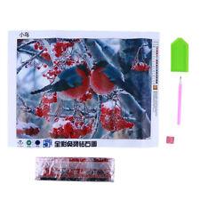 Two Birds On Tree Diamond Handmade Mosaic Embroidery Needlework Home Decor LD