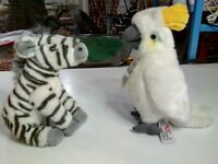 Peluche lelly venturelli amici per il peluche 20 cm. cacatue /zebra